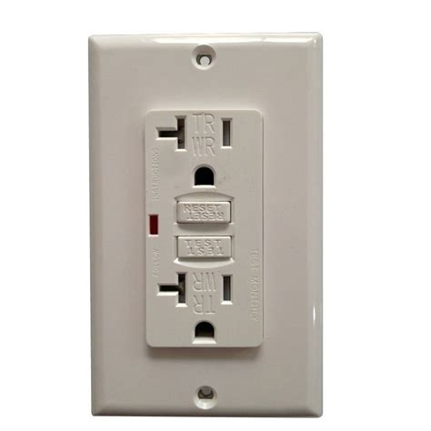 weather resistant wr gfci gfi receptacle outlet 15a or 20a white brand new ebay