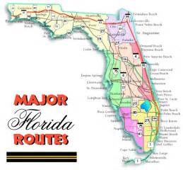 Road Map Of Florida by Major Florida Routes
