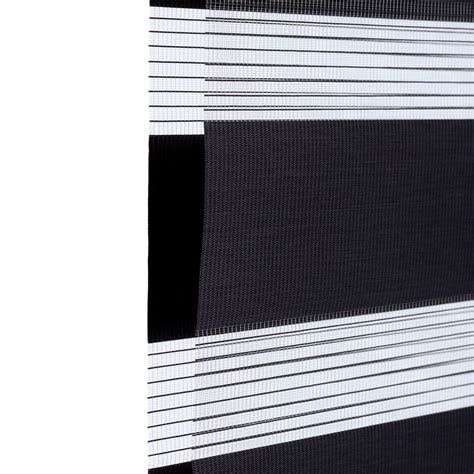 jalousie stoff duo roller blind 90x175cm grey without drill zebra vario
