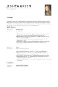 Bar Manager Resume Samples Visualcv Resume Samples Database