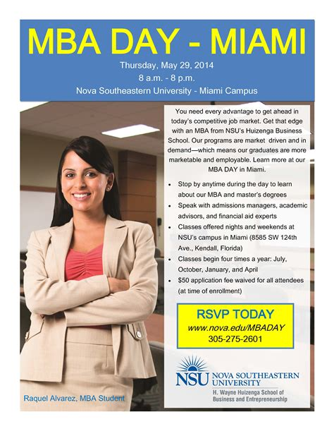 Miami Healthcare Mba by Nsu Mba Day Miami Cus May 29 Nsu Newsroom