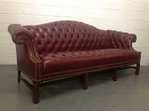 Chesterfield Sofa Style Chesterfield Leather Sofa Chippendale Style At 1stdibs