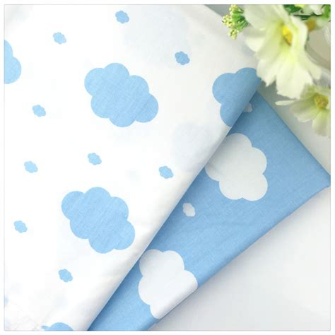 2pcs Lot 160 50cm Sheep 100 Ctwill Cotton Patchwork - 2016 new blue cloud twill 100 cotton fabric diy sewing