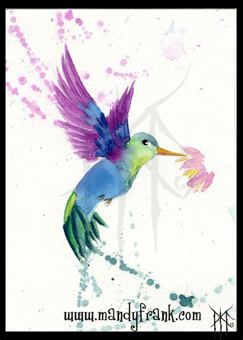 watercolor tattoo kolibri by mandy frank watercolor aquarell kolibri my own