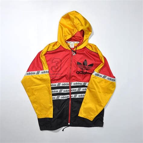 multi colored adidas vintage adidas windbreaker jacket adidas color
