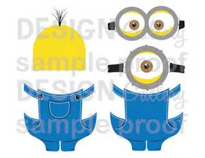minion overall template 5 printable images minion inspired diy printable instant