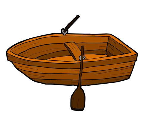 row boat clipart - Row Boat Graphic