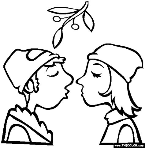Christmas Coloring Pages Of Mistoe New Calendar Template Mistletoe Coloring Page
