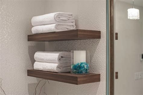 Modern Bathroom Shelves Gorgeous Schulter Trend Vancouver Modern Bathroom Inspiration With 3d Tile Floating Shelves