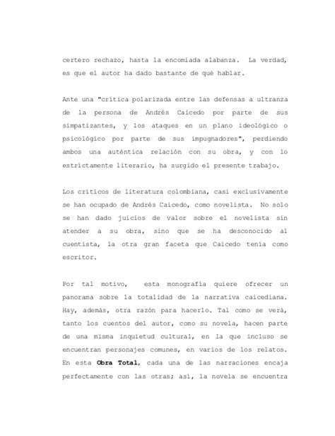 viva panorama de narrativas la obra narrativa de andr 233 s caicedo