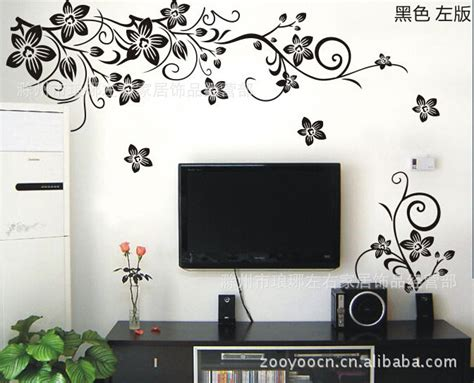flower wall stickers for bedrooms wall decoration flowers decal free shipping worldwide