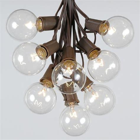 brown wire lights sale 100 g50 outdoor lighting patio globe string lights
