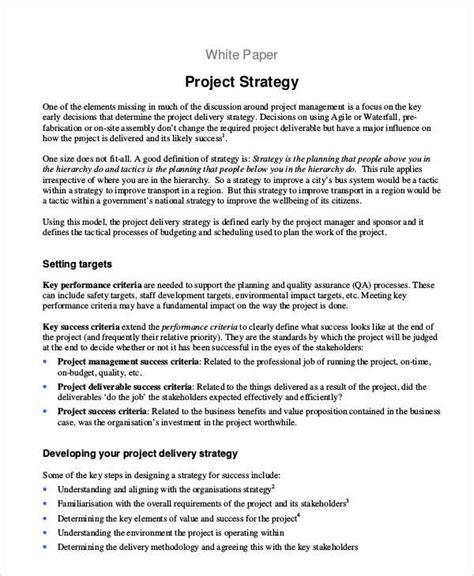 Strategy Paper Template 6 strategy paper templates free sles exles