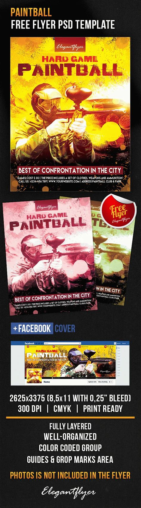 Paintball Free Flyer Psd Template By Elegantflyer Free Caign Flyer Template