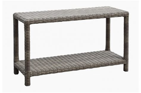Resin Wicker Outdoor Occasional Table Sofa Table Sunset West Outdoor Sofa Table