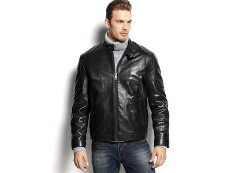 Jaket Hoodie Smile Brown calvin klein s faux leather hooded jacket aztec