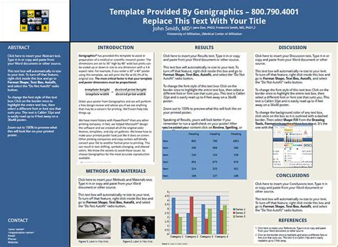 Research Poster Template Free scientific research poster templates creative template