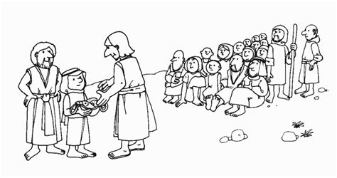 coloring pages jesus feeds 5000 feeding the multitude jesus feeds 5000