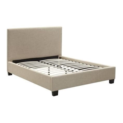 linen platform bed modus geneva linen platform bed in toast 9al7lx8