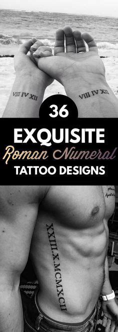 36 exquisite roman numeral tattoo designs best roman 35 tatuajes para parejas que est 225 n de moda la religion