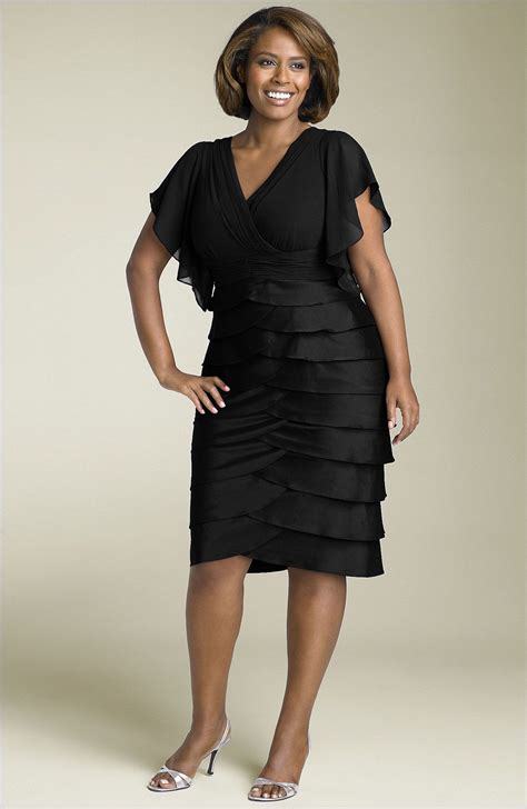 Dress Of The Day Tiered Dress by Papell Flutter Sleeve Dress Plus 20w