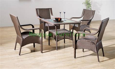 indoor rattan dining chairs with table dining room