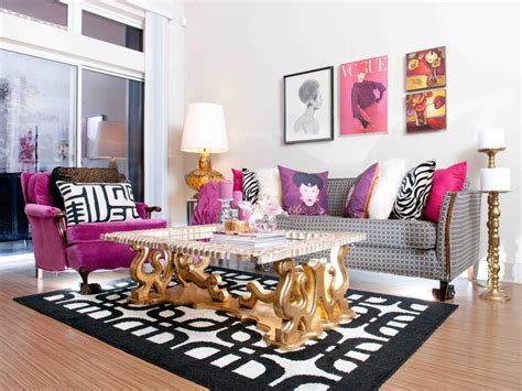 black and pink living room photos hgtv