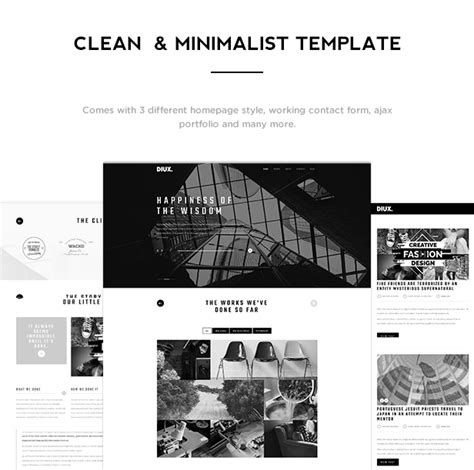 Cizarua Responsive One Page Portfolio Template diux responsive one page portfolio template by ridianur
