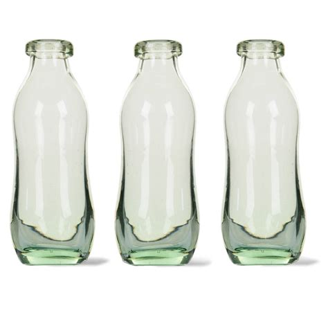 Recycled Bottle Vase by Set Of Three Recycled Glass Bottle Vases By All Things