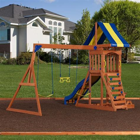 backyard wooden playsets providence wooden swing set