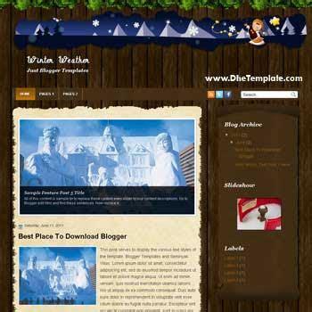 winter templates for blogger push bom