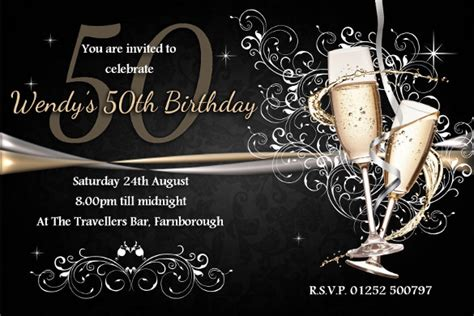 template for 50th birthday invitations free printable 28 60th birthday invitation templates psd vector eps