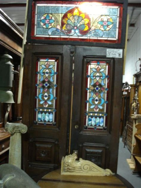 Antique Stained Glass Doors For Sale Antique Doors Furniture For Sale In Pennsylvania Oley Valley Architectural Antiques Ltd