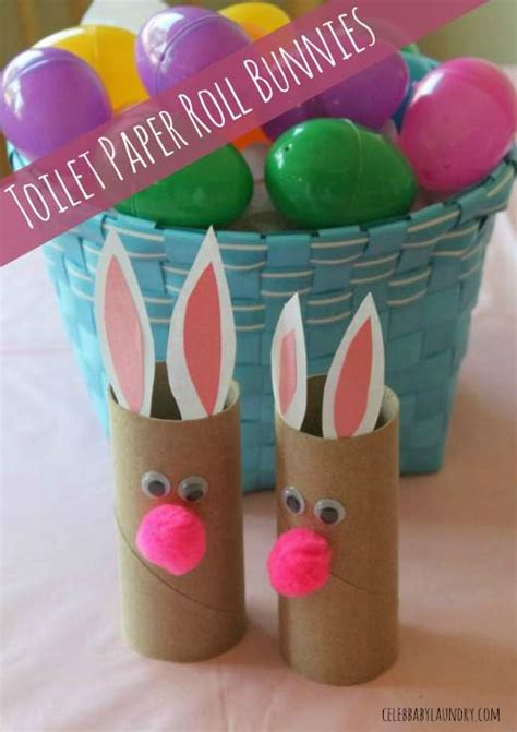 Bunny Toilet Paper Roll Craft - easter craft ideas for toddlers