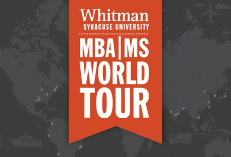 Syracuse Mba Deadline by Whitman School Of Management At Syracuse