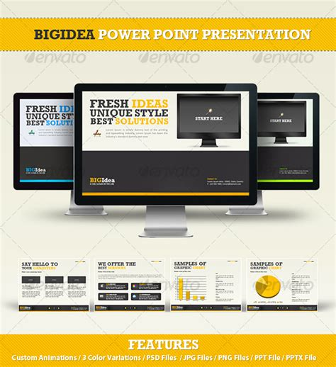 create powerpoint presentation graphics in photoshop