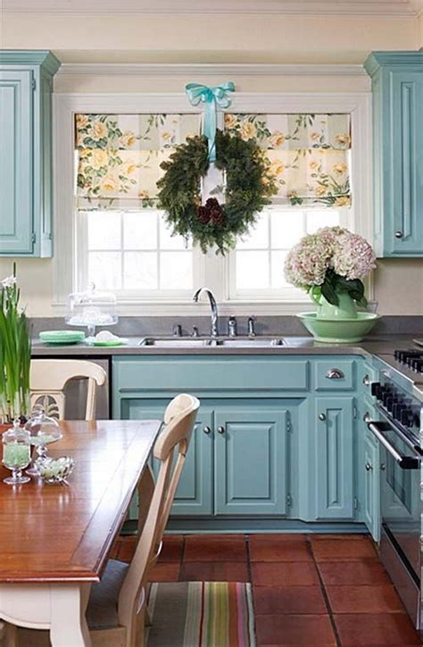 blue painted kitchen cabinets 80 cool kitchen cabinet paint color ideas