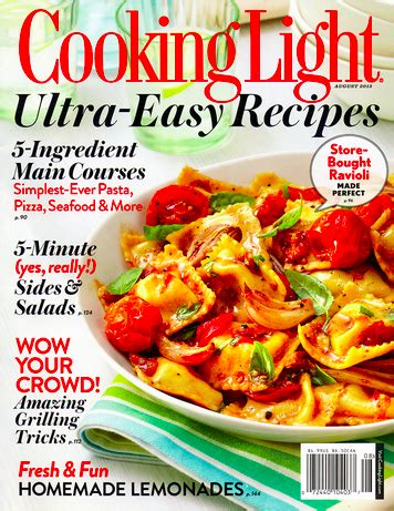cooking light magazine recipes cooking light magazine just 5