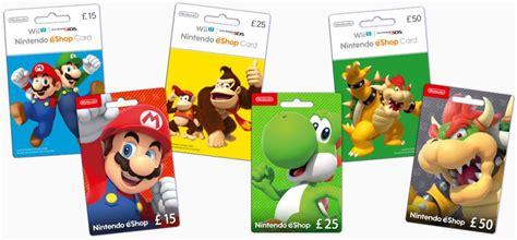 Nintendo E Shop Gift Card - nintendo eshop cards wii u nintendo