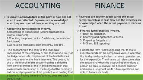 Finance Vs Accounting Mba by Finance Vs Accounting