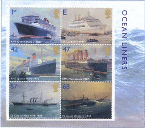 Great Britain Liners 2004 St Set liners new great britain sts from norvic philatelics