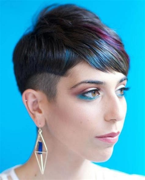 colored bangs 2016 bold pixie haircuts for 2019 haircuts