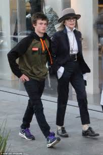 diane keaton how old diane keaton wears a quirky outfit as she takes son duke