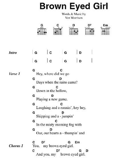 strum pattern for brown eyed girl easy guitar songs acoustic