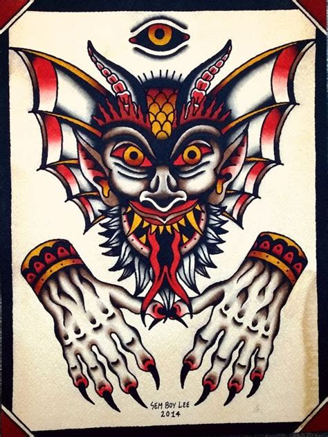 traditional devil tattoo 1000 images about traditional on