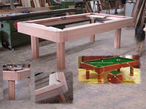 billardtisch esszimmertisch billardtisch esstisch selber bauen esstisch und st hle