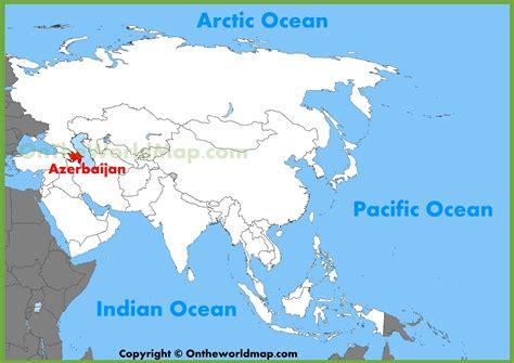 where is azerbaijan on a world map azerbaijan location on the asia map