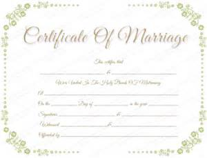 Marriage Certificate Templates Free Free Printable Marriage Certificate Templates