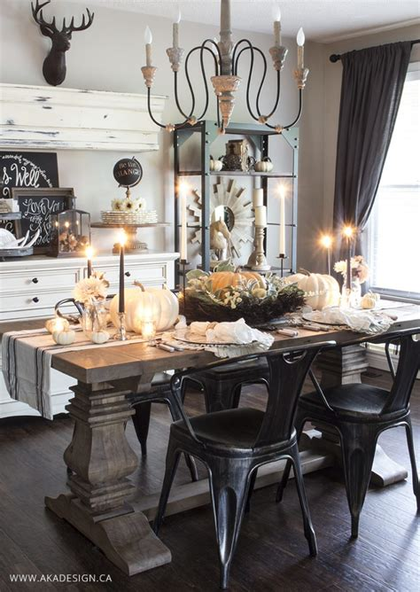 Dining Room Tablescapes Ideas 30 Fall Dining Room And Tablescape Ideas