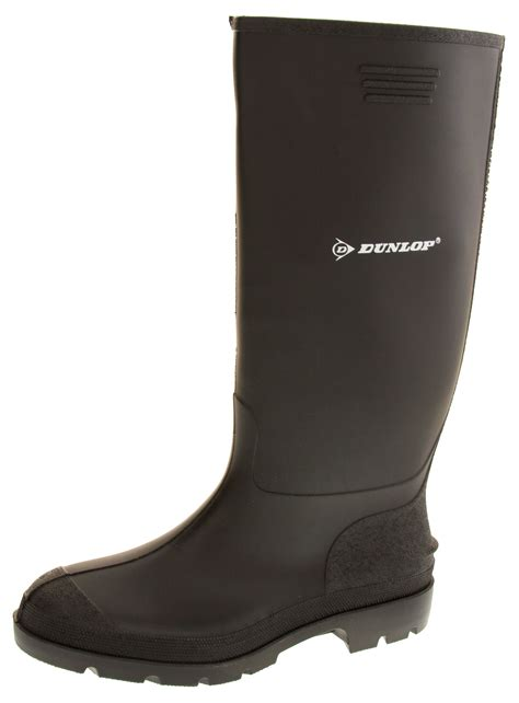 Garden Boots Mens by Mens Dunlop Wellington Boots Waterproof Gardening Wellies Sz Size 8 9 10 11 12 Ebay